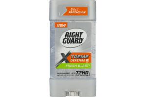 Right Guard Xtreme Defense 5 Antiperspirant Fresh Blast