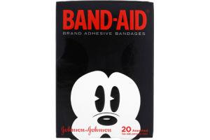 Johnson & Johnson Band Aid Assorted Sizes Mickey Mouse Adhesive Bandages
