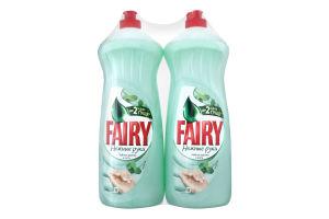 Средство для мытья посуды Чайное дерево и мята Fairy 2x1л