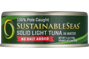 SustainableSeas Solid Light Tuna in Water No Salt Added