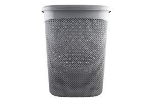 Корзина для белья серый металлик 52л №170004.2 Drop Ucsan 1шт