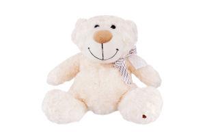 Игрушка мягкая для детей от 3лет белая с бантом 33см №3301GMB Медведь GranD 1шт