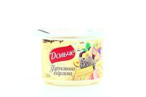 Йогурт Дольче Фруктова корзина Персик-маракуйя 3,2% 120г х12