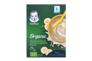 Каша молочна суха швидкорозчинна пшенично-вівсяна з бананом для дітей від 6міс Organic Gerber к/у 240г