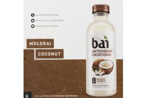 Bai Antioxidant Cocofusion Beverage Molokai Coconut - 6 CT