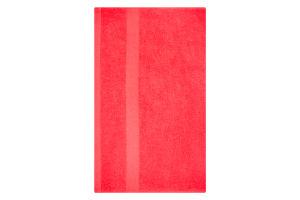 Рушник махровий червоний 50х90см 400г/м2 Саффран 1шт