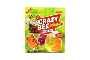 Конфеты Roshen Crazy Bee Gummi Bear Mix желейные