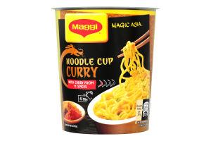 Вермишель быстрого приготовления со вкусом карри острая Magic Asia Maggi ст 63г