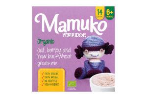 Крупы ассорти овсяная-гречишно-ячменные органические измельченные Mamuko к/у 240г