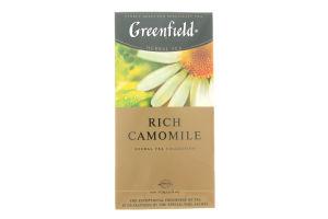 Чай трав'яний Rich Camomile Greenfield пакет з/я 1,5г*25шт