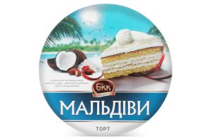 Торт Мальдивы БКК к/у 850г