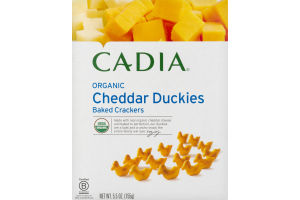 Cadia Organic Baked Crackers Cheddar Duckies
