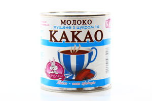 Молоко Заречье згущене з цукром та какао 7,5% з/б 370г х15