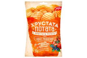 Снеки Жайвір Хрустата Потата фігурні томат-базилік 50г х6