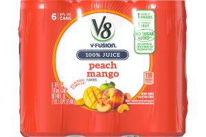 V8 V-Fusion Peach Mango - 6 PK