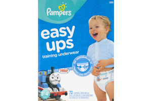 Pampers Easy Ups Diapers Training Underwear 30-40 lb - 72 CT