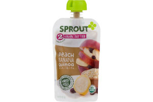 Sprout Organic Baby Food Peach, Berry, Oatmeal & Quinoa