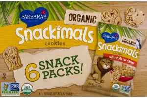 Barbara's Snackimals Cookies Chocolate Chip - 6 PK