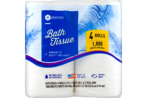 SE Grocers Bath Tissue - 4 CT