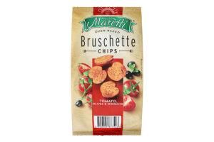 Брускети хлібні запечені Tomato, olives&oregano Maretti м/у 140г