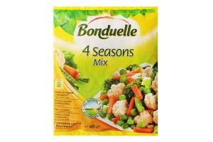 Овочева суміш заморожена 4 пори року Bonduelle м/у 400г