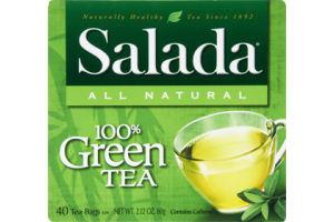 Salada 100% Green Tea Bags- 40 CT