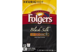 Folgers Black Silk Dark Roast Coffee K-Cup Pods - 12 CT