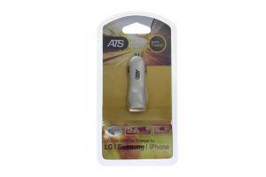 Устройство зарядное автомобильное Dual USB 2.1А DL-300 ATS 1шт