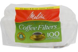 Melitta Coffee Filters Junior Basket Filters - 100 CT
