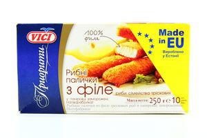 Рибні палички Vici Приорити з філе риби 250г х10
