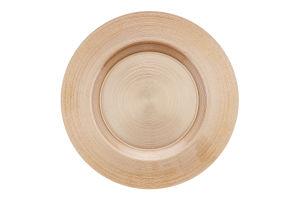 Тарелка ArdaCam Circle золотистая 28см