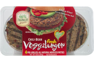 Franklin Farms Chili-Bean Veggieburger - 4 CT