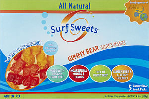 Surf Sweets Gluten Free Gummy Bear Snack Packs - 5 CT