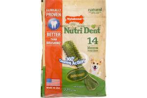 Nylabone Nutri Dent Dental Chews Dog Treats Medium - 14 CT