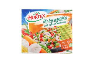 Овощи с рисом и шампиньонами для жарки Hortex м/у 400г