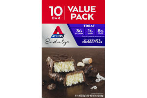 Atkins Endulge Chocolate Coconut Bar Value Pack - 10 CT