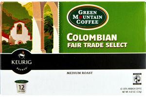 Green Mountain Coffee Columbian Fair Trade Keurig Select Medium Roast K-Cups - 12 CT