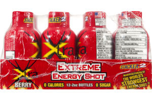Stacker 2 Xtreme Energy Shot Xtra Berry - 12 CT