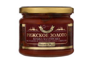 Кілька балтійська обсмажена в томатному соусі Рижское золото с/б 280г