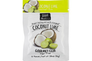 Project 7 Coconut Lime Gourmet Gum Sugar Free - 12 CT