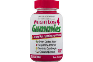 Doctor's Select Weight Loss 4 Gummies Raspberry Flavor - 90 CT