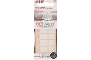 Kiss Gel Dress Full/French Strips Glisten Up - 40 CT