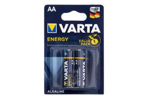Батарейки AA 1.5V LR6 MN1500 Alkaline Energy Varta 2шт