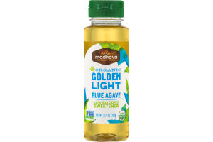 Madhava Organic Golden Light Blue Agave Low-Glycemic Sweetener