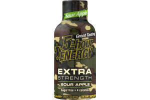 5-Hour Energy Extra Strength Dietary Supplement Sour Apple