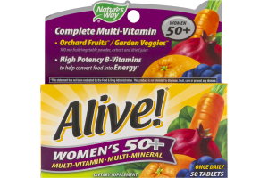 Nature's Way Alive! Women's 50+ Multi-Vitamin Tablets - 50 CT
