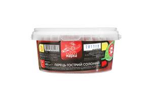 Перець гострий солоний Чудова марка відро 400г