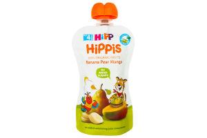 Пюре для детей от 4мес Банан Груша Манго Hippis Hipp 100г