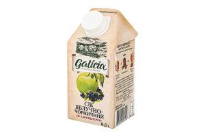 Сік яблучно-чорничний неосвітлений пастеризований Galicia т/п 0.5л