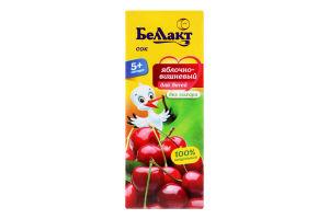 Сок для детей от 5мес Яблоко-вишня Беллакт т/п 0.2л